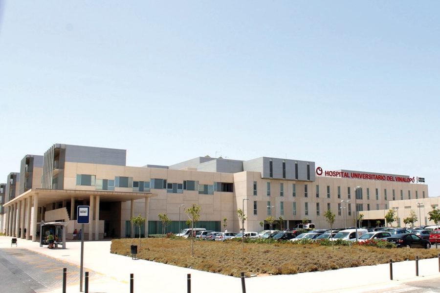 Fachada hospital. Seguridad hospitalaria.
