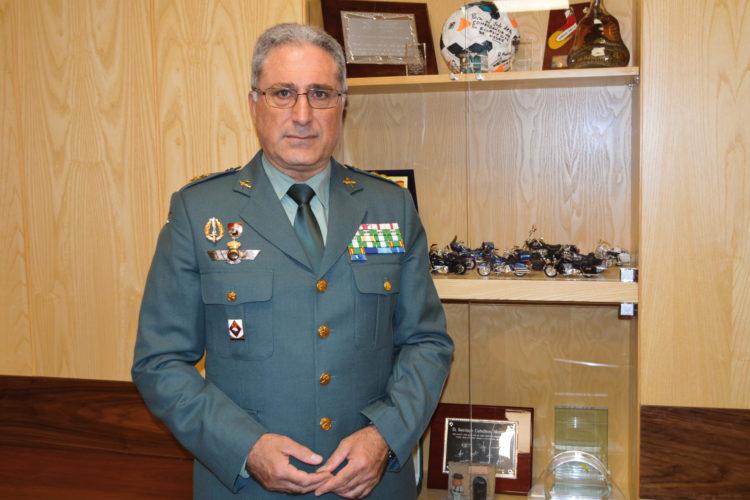 General Santiago Caballero, jefe de la Jefatura de Armas y Explosivos y Seguridad de la Guardia Civil.