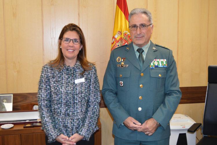 Ana Borredá y el general Santiago Caballero