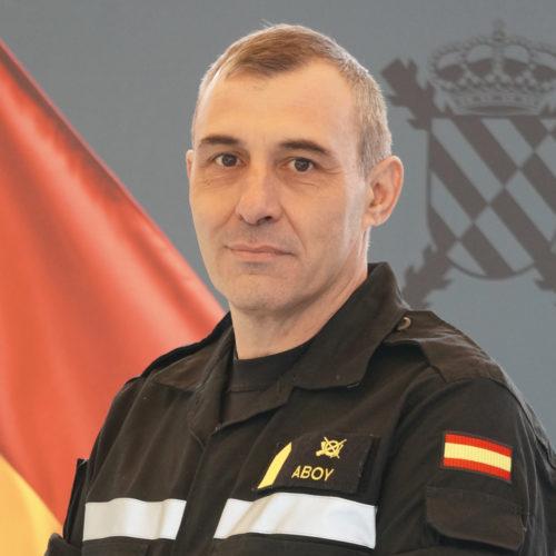 Francisco Javier Aboy Buceta Jefe de Sección Plana Mayor Primer Batallón de Intervención en Emergencias de la UM