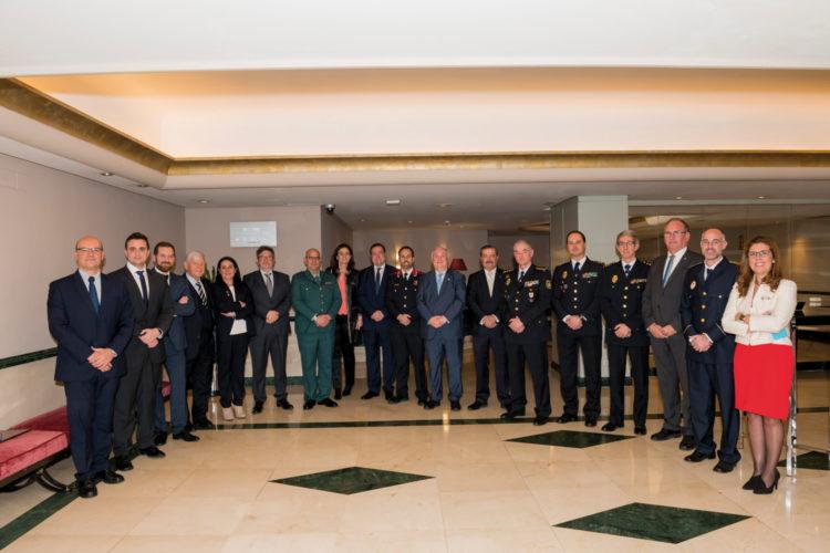 Trofeos de la Seguridad. Foto de los premiados.
