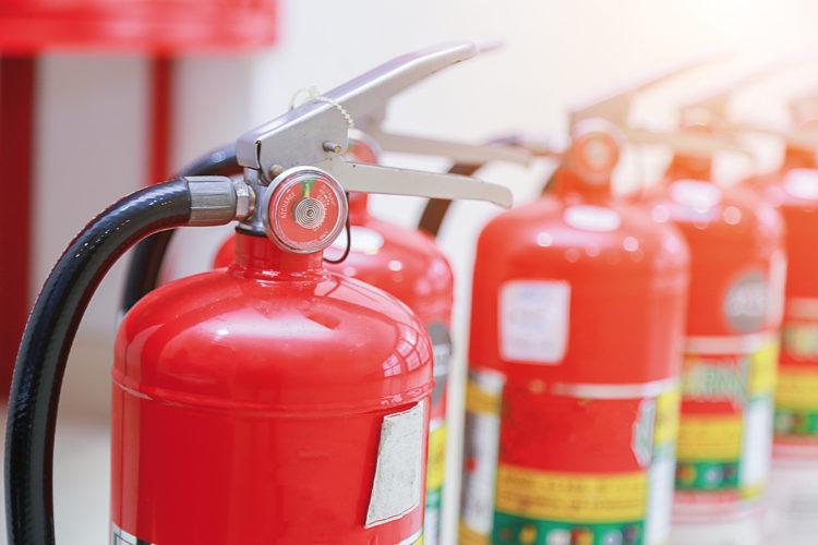 Extintores de incendios.