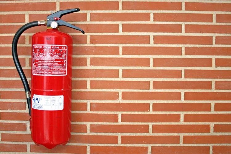 extintor de pared