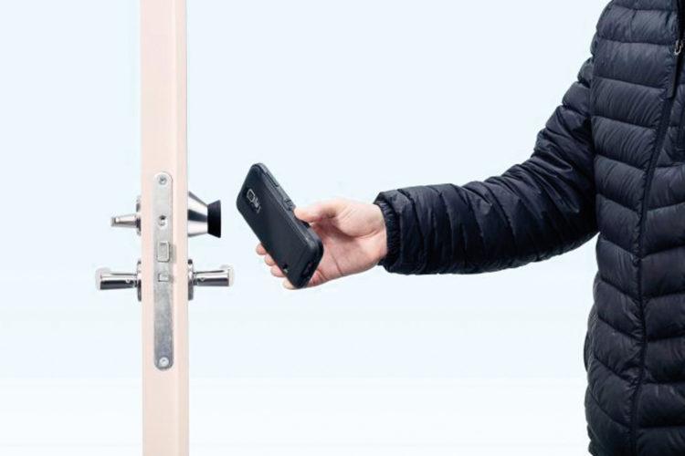 Cerradura autoalimentada NFC iLOQ S50. Cerradura electrónica.