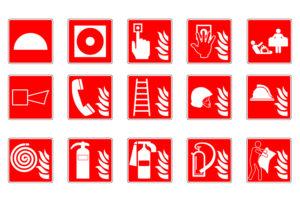 Pictogramas señalización contra incendios