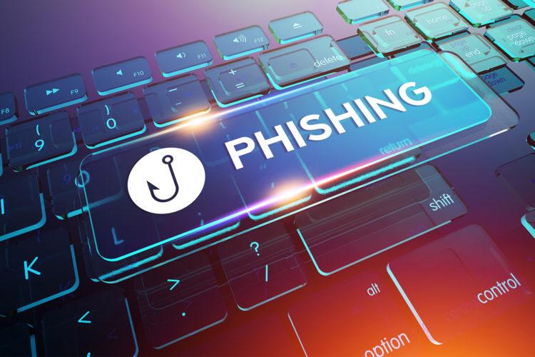 Teclado con phishing