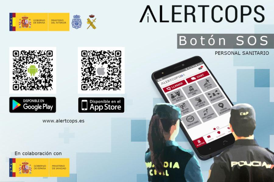 Descarga de la aplicación Alertcops para sanitarios