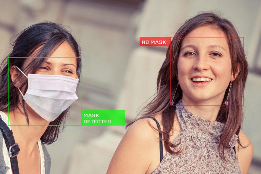Aplicación de detección de mascarillas.