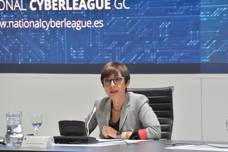 María Gámez, directora de la Guardia civil, durante la presentación de la Cyberleague.