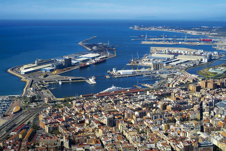 Vista aérea del Puerto de Tarragona
