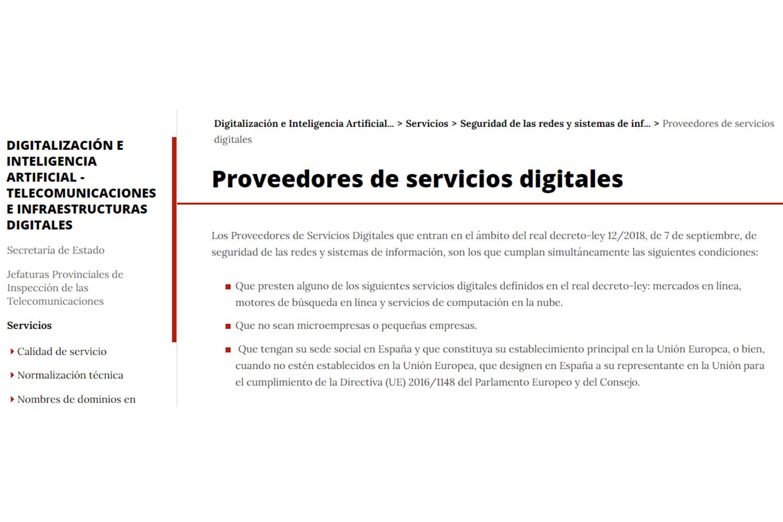 proveedores servicios digitales