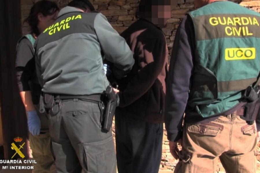 Detención de la Guardia Civil.