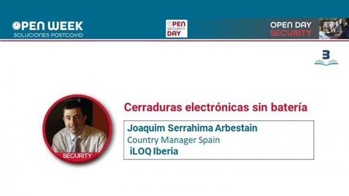 Joaquim Serrahima. iLOQ. Open Week 2020