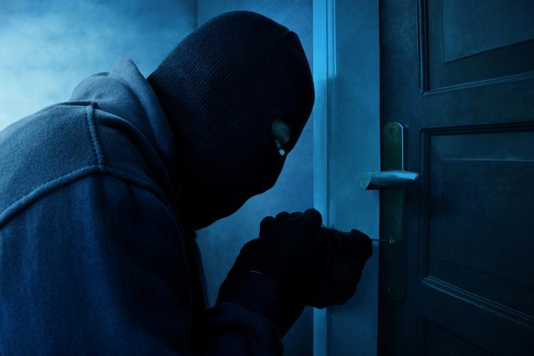 Ladrón intenta robar una vivienda.