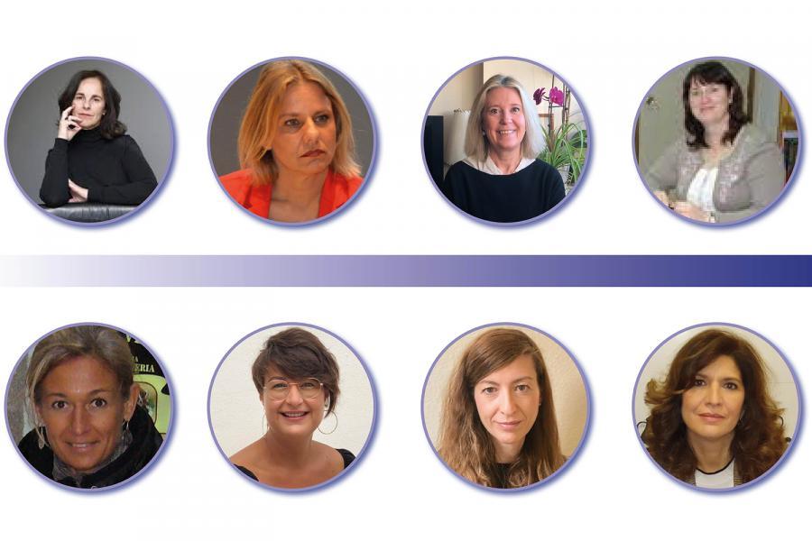Mujeres de asociaciones de seguridad privada.