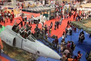 Presencia de las Fuerzas Armadas en una edición de la Feria Internacional Abanca Semana Verde de Galicia.