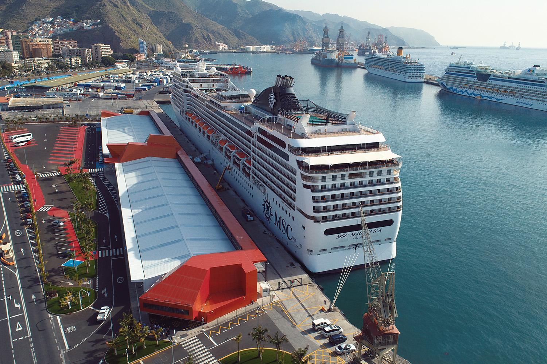 Terminal de Cruceros del Puerto de Tenerife. Especial seguridad en puertos.