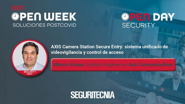 Alberto Alonso, Solution Engineer en Axis Communications. Security Open Day 2021.
