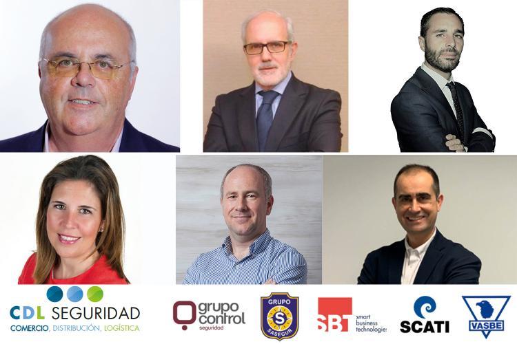 Algunos de los ponentes de la 4 Jornada de Seguridad en Comercio, Distribución y Logística.
