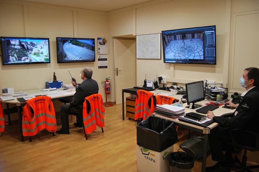 Centro de control de seguridad de la Abadía de Montserrat.