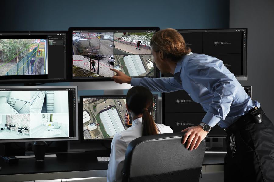 Operadores del sistema de videovigilancia.