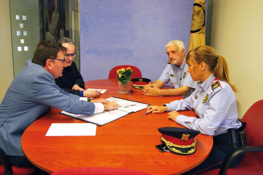 Reunión de Seguridad en la Abadía de Montserrat.