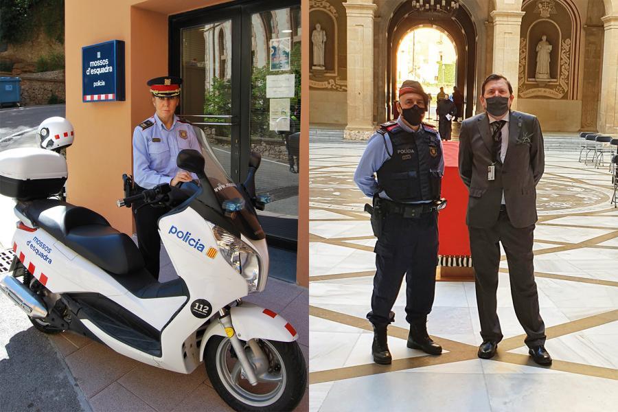 Mossos y seguridad privada en la Abadía de Montserrat