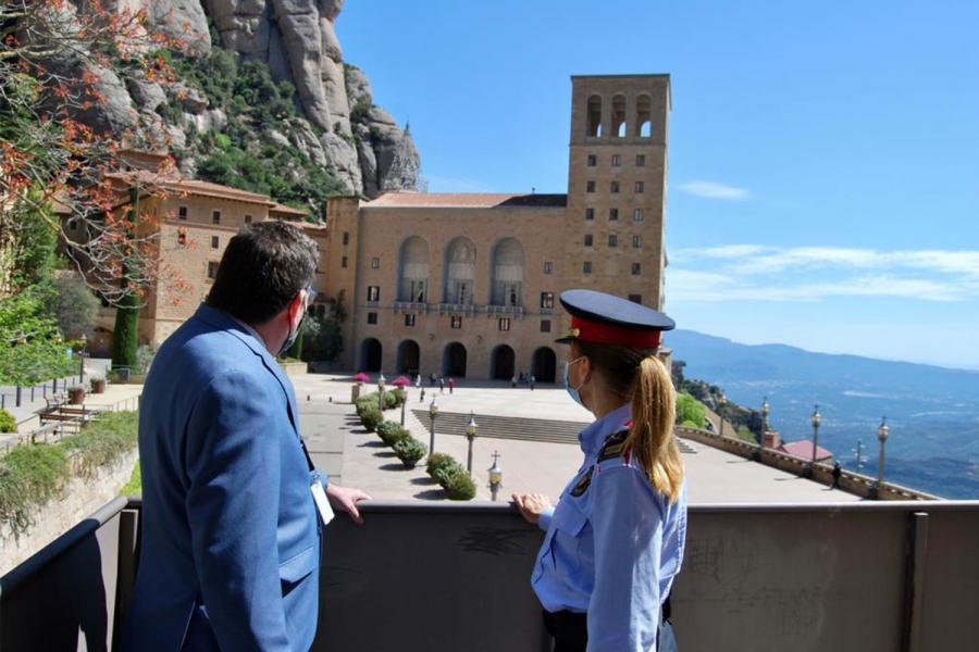 Vista de la Abadía de Montserrat.