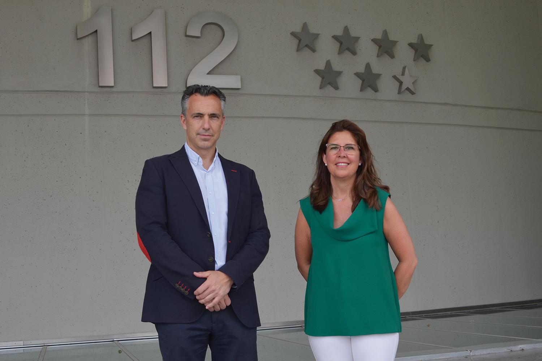 Carlos Novillo y Ana Borredá, directora de Seguritecnia.