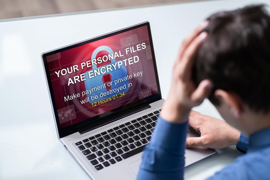 Ciberataque de ransomware.
