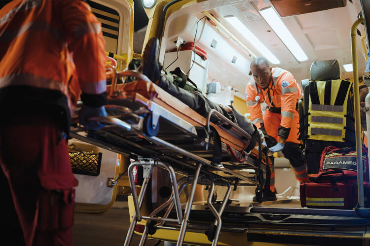 Ambulancia durante emergencia.