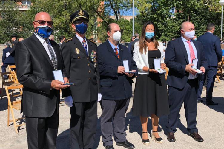Profesionales de la seguridad premiada premiados por Día de la Policía 2021.