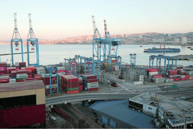 infraestructuras críticas puerto de contenedores de Valparaíso Chile
